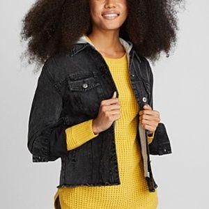 Jackets & Blazers - Demin Jacket with Hoodie